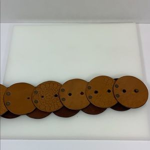 Chico's Accessories - Chico's boho brown leather concho belt sz S-M